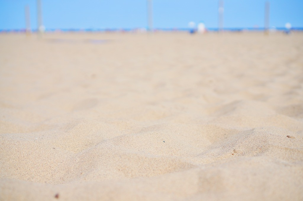 ビーチの白い砂